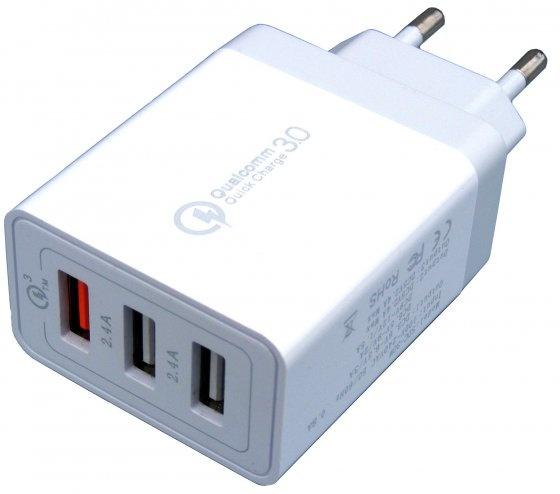 Ładowarka; sieciowa; szybka; Qualcomm Quick Charge 3.0; 3,6